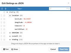 JSON Settings